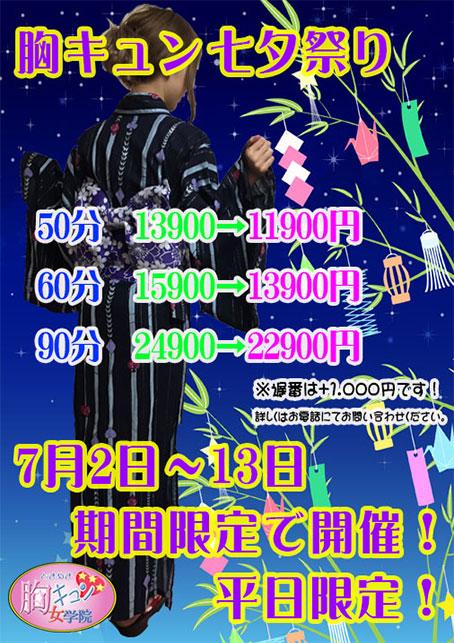 2018.7.2~2018.7.13まで(平日限定割引)
